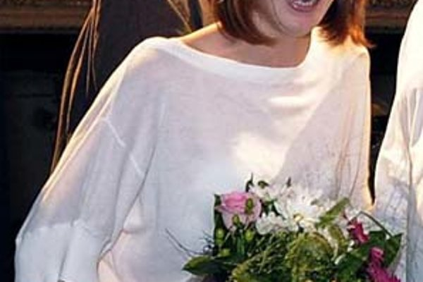 Táňa Pauhofová mala v Karlových Varoch nabitý program. Uvádzala Polčas rozpadu režiséra Vlada Fischera i Muziku Juraja Nvôtu (v pozadí).