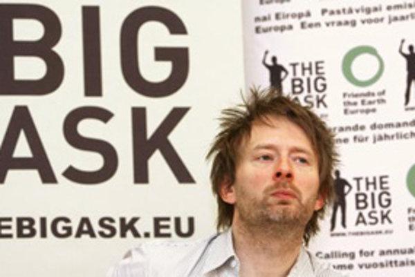 Thom Yorke, spevák zo skupiny Radiohead.