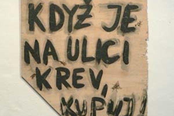 Umelec Jiří David reaguje na agresivitu reklamy.