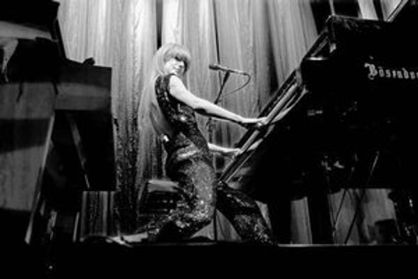 Tori Amos na bratislavskom koncerte.
