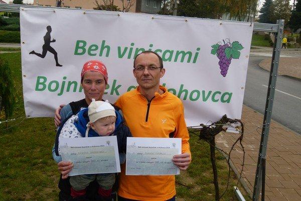 Celkoví víťazi - Katarína Drahovská a Milan Furár.
