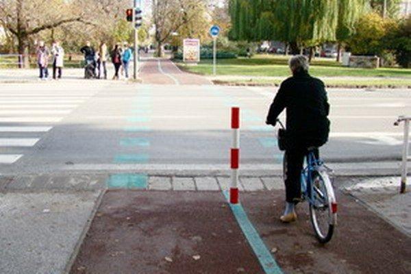 Nová cyklotrasa prepojila Promenádu s Parkom Janka Kráľa.
