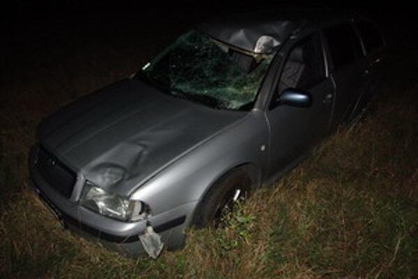 Škoda Octavia po nehode.
