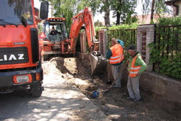 Počas výstavby vodovodu.