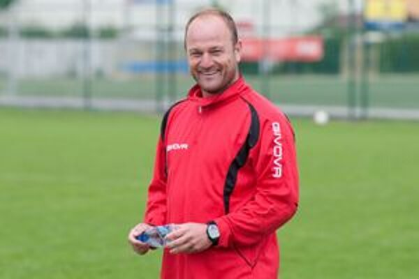 Tréner Spartaka Trnava Pavel Hoftych.