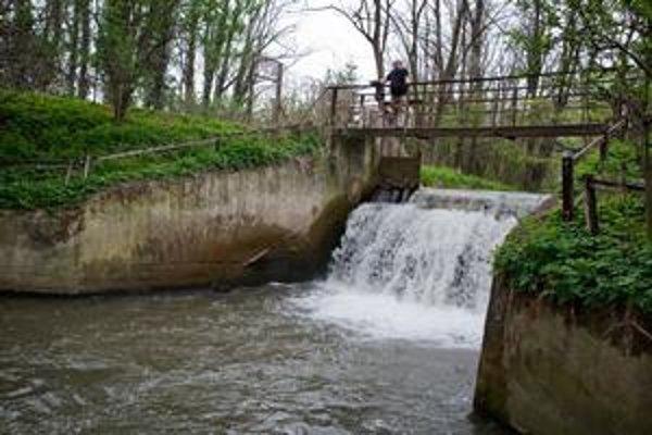 Vasil Enev na lávke nad potokom, na ktorom chcel prevádzkovať malú vodnú elektráreň. ⋌FOTO
