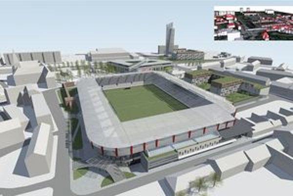 Nová podoba štadióna podľa vizualizácie investora.