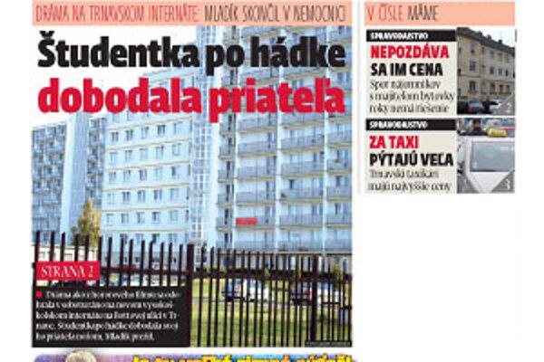Nové číslo MY-Trnavských novín vyšlo v pondelok 9. novembra.
