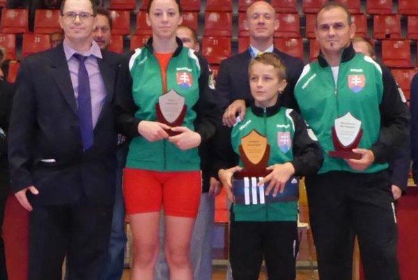 Ocenení zápasníci.
