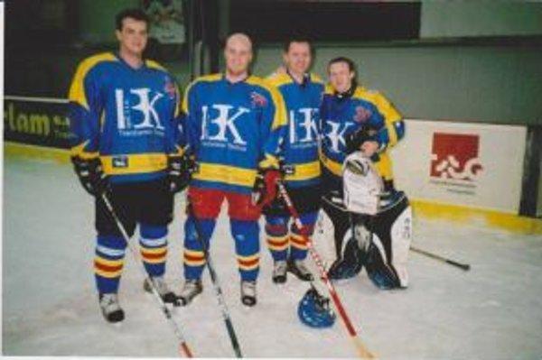 Štvorica dlhoročných opôr Trenč. Teplíc: Marián Horník, Filip Drobný, Stanislav Jelínek a Martin Jančo.