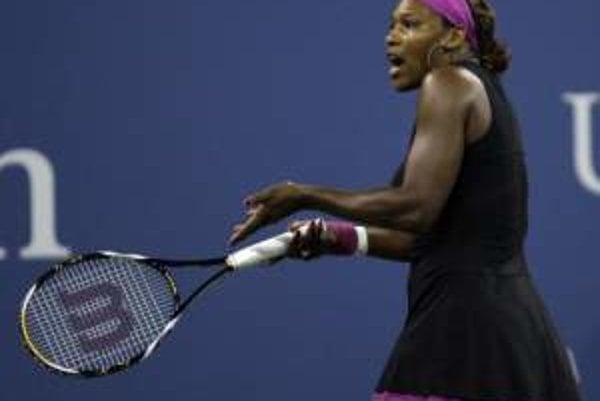 Rozhorčená Serena Williamsová.