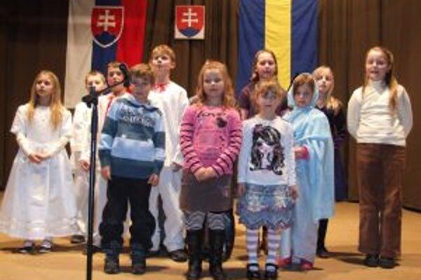V kultúrnom programe na oslavách štátnosti vystupovali aj deti.