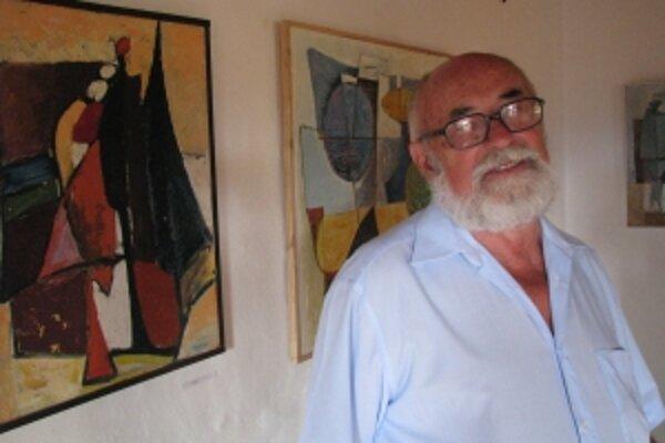 Jaroslav Abrhám vystavuje v Trenčíne samostatne po prvý raz.