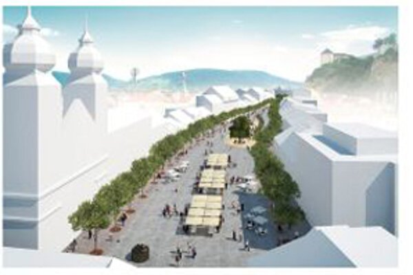 Takto by malo vyzerať Mierové námestie po obnove