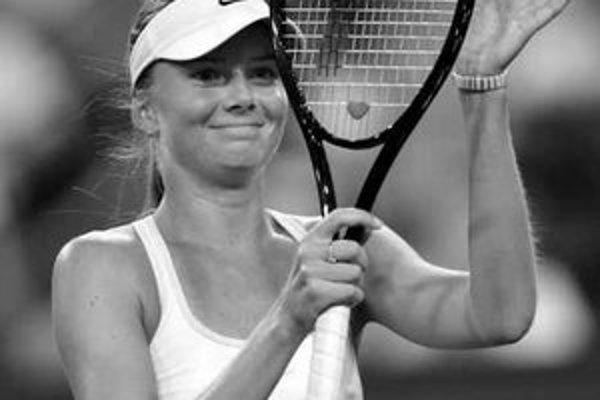 Hantuchovej radosť po víťaznom osemfinále s Hingisovou.