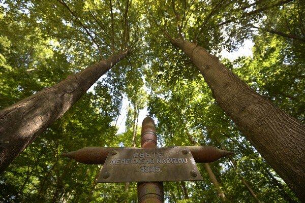 Pôvodný pamätník masového hrobu v Dubnici nad Váhom. Kríž je zhotovený z vojenskej munície. Každoročne sa tu koná spomienková slávnosť pri príležitosti Pamätného dňa rómskeho holokaustu v rámci projektu Ma bisteren!.