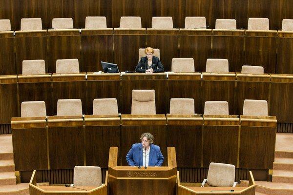 J. Dubovcová upozornila poslancov, že súčasťou systému je zákon dovoľujúci diskrimináciu.