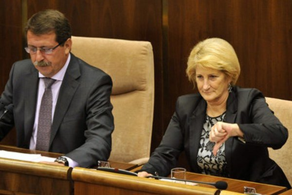 Krajská šéfka Smeru Jana Laššáková (vpravo).