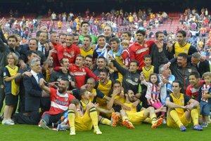 Futbalisti Atlética Madrid remizovali v Barcelone 1:1 a po osemnástich rokoch sú majstrami Španielska.