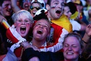 Radosť nemeckých fanúšikov.