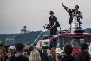 Marián Gáborík previezol Stanleyho pohár na hasičskom aute na festivale Pohoda