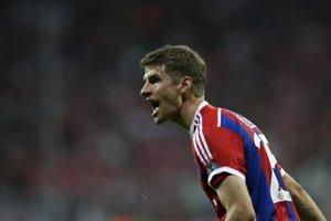 Thomas Müller z Bayernu Mníchov počas zápasu s Manchestrom City.
