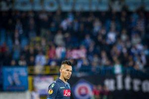 V tmavom drese Neapola nastúpil v Bratislave aj Marek Hamšík.