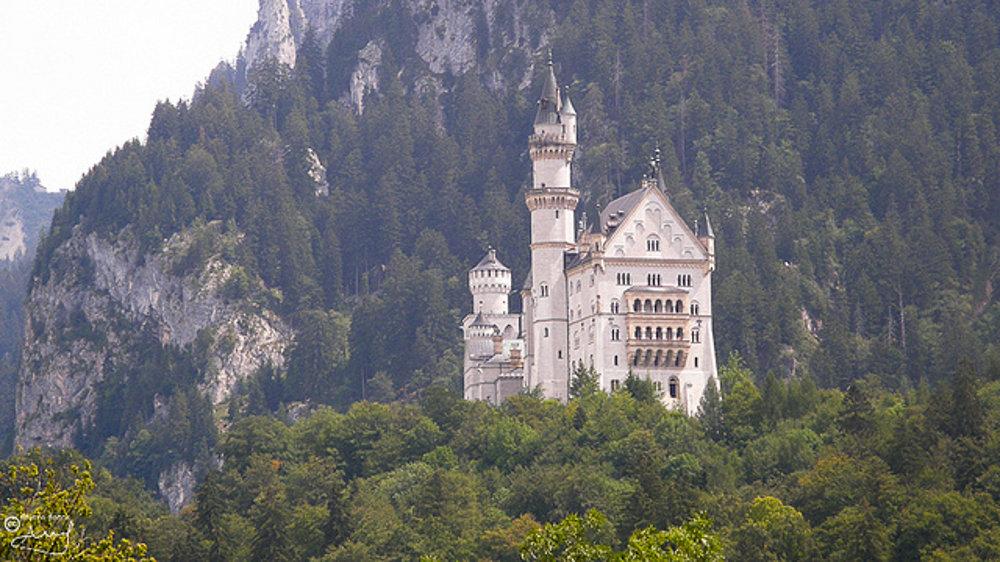 Neuschwanstein, hrad Ľudovíta ll. v Bavorsku.