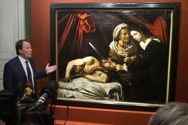 """Obraz s názvom """"Judita stínajúca hlavu Holofernovi"""" ležal na povale vyše 150 rokov."""