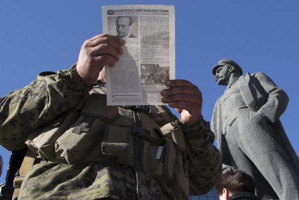 Propagandistické noviny v Donecku.