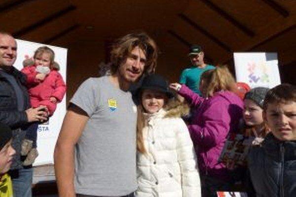 Na krste Vianočnej známky sa stretla aj s Petrom Saganom.