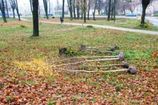 Mesto Čadca začalo včera s obnovou zničeného parku na Hviezdoslavovej ulici.