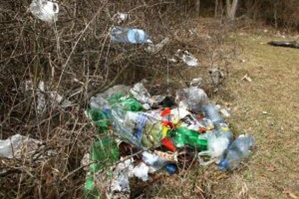 Ľudia sa často zbavujú odpadu v prírode.