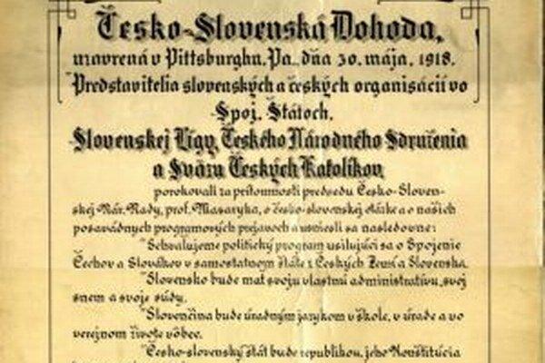 Pri podpise Pittsburskej dohody bol aj Kysučan.