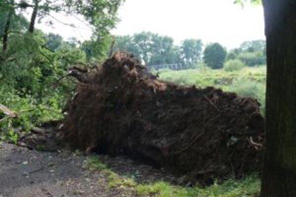Hrozná búrka sa dnes prehnala Čadcou. Stačilo niekoľko minút a najstarší park je minulosťou.
