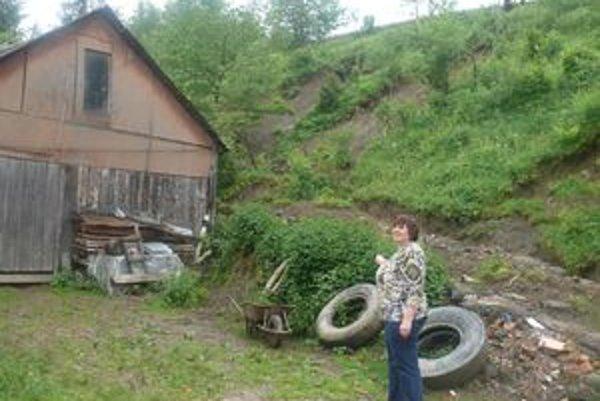 Majiteľka domu hovorí, že zosuvy sú čoraz častejšie.