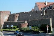Mestské hradby v Bratislave.