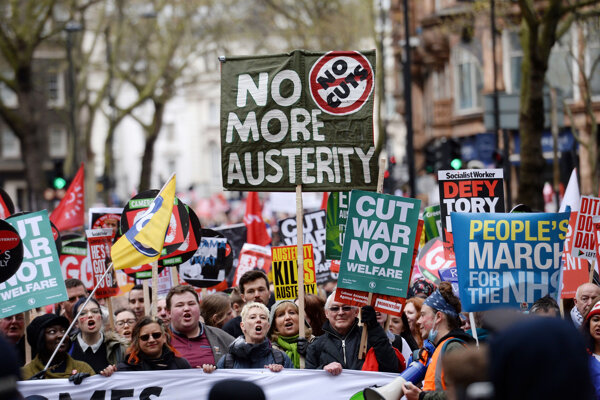 Londýnskymi ulicami pochodovalo 150-tisíc ľudí.