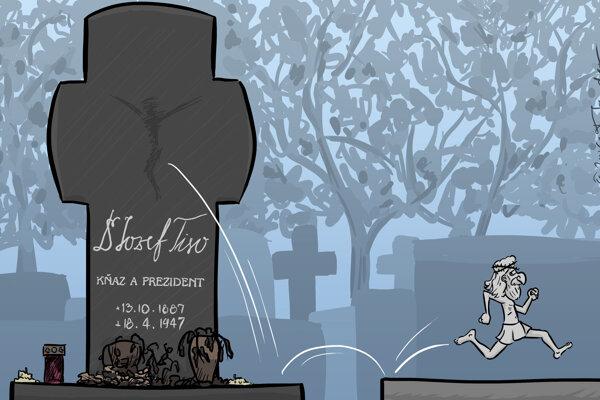 Kristus beží preč (kreslí Mandor)