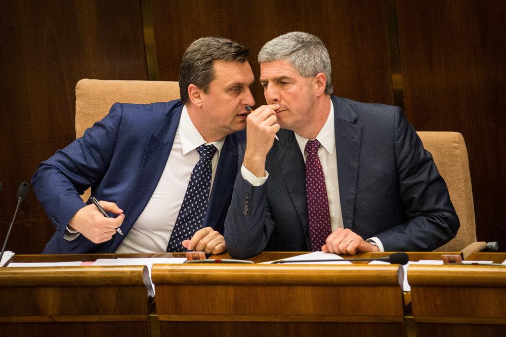 Predseda NR SR Andrej Danko a podpredseda NR SR Béla Bugár.