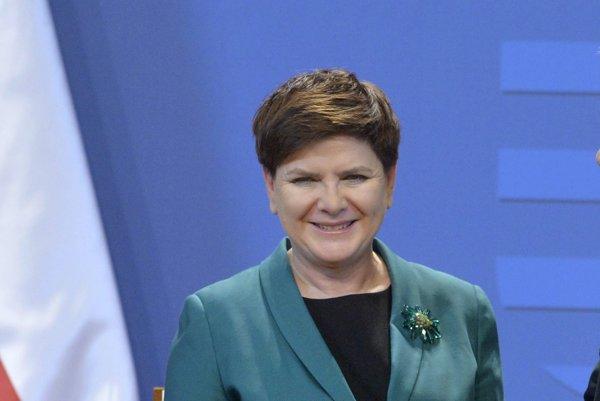 Poľský premiérka Beata Szydlová.