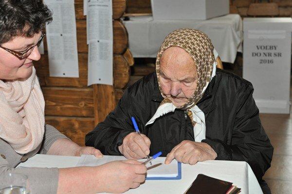 Najstaršia terchovská volička.