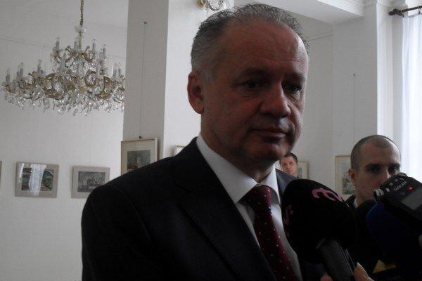 Prezident Andrej Kiska na návšteve v žilinskej radnici.