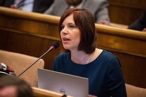 Poslankyňa NR SR za stranu OĽaNO–NOVA Veronika Remišová.