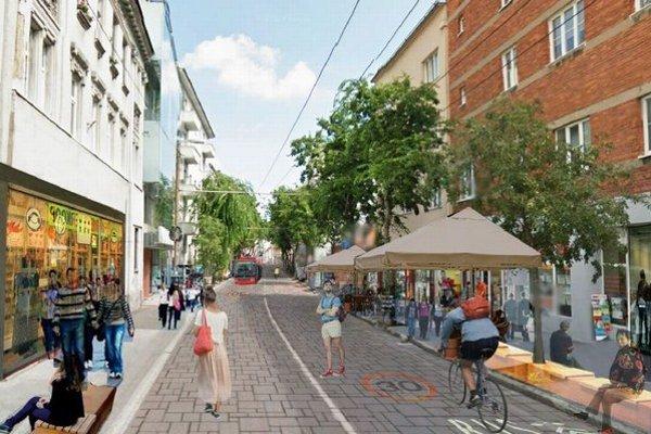Takto by mal vyzerať bulvár na Mickiewiczovej ulici.