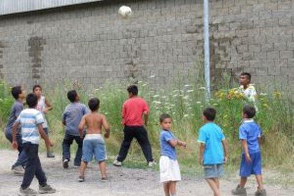 Malí futbalisti Pod Kortínou.