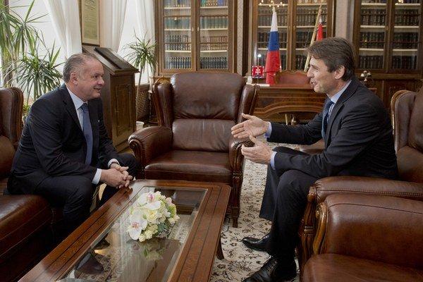 Prezident s novým primátorom Bratislavy.