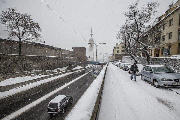 Sneh v hlavnom meste.