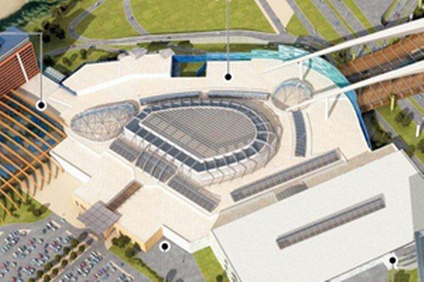 Plán projektu Metropolis v Jarovciach z roku 2010, ktorý bol zamietnutý.