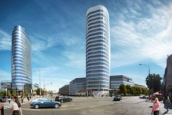 Vežiak projektu Twin City na Mlynských nivách má byť vysoký 89,4 metrov. Najvyššou budovou v Bratislave je Národná banka s výškou 111,6 metrov.